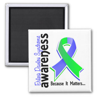 EDS Awareness 5 2 Inch Square Magnet