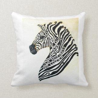 EDS Awareness Art Zebra Painting Throw Pillow