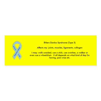 EDS Awareness Double-Sided Mini Business Cards (Pack Of 20)