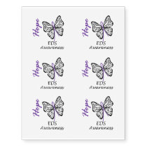 EDS Awareness Butterfly Hope Temporary Tattoos