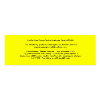 EDS Awareness Card - 2013 Double-Sided Mini Business Cards (Pack Of 20)