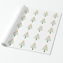 EDS Awareness Christmas Tree Wrapping Paper