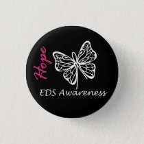 EDS Awareness Hope Butterfly Button