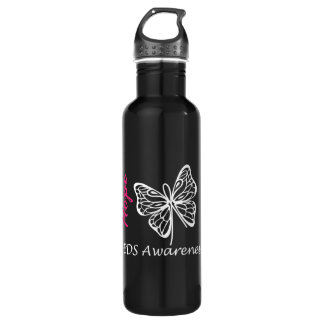 EDS Awareness Hope Butterfly Stainless Steel Water Bottle