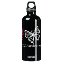 EDS Awareness Hope Butterfly Water Bottle
