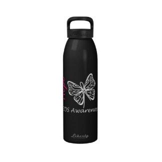 EDS Awareness Hope Butterfly Water Bottles