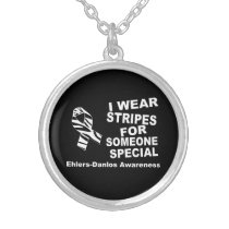 EDS Awareness I Wear Stripes Necklace