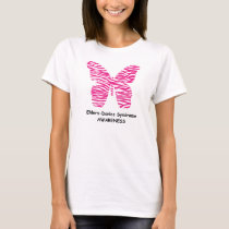 EDS Awareness Pink Zebra Butterfly T-Shirt