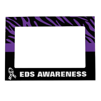 EDS Awareness Purple Zebra Stripes Photo Frame