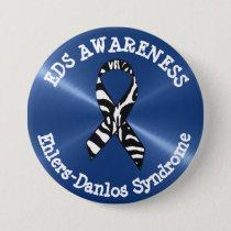 EDS Awareness Ribbon  Button