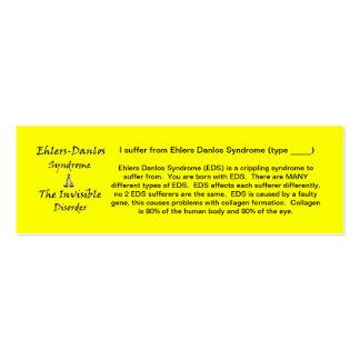 EDS Awareness - Skinny Business Cards
