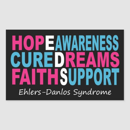 EDS Awareness Words of Encouragement Sticker