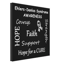 EDS Awareness Wrapped Canvas Print