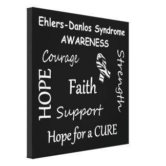 EDS Awareness Wrapped Canvas Print