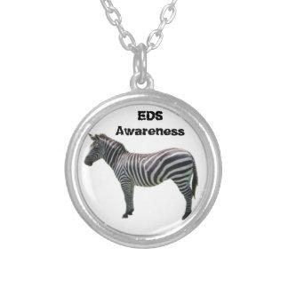 EDS Awareness Zebra Bracelet - Ehlers-Danlos Silver Plated Necklace
