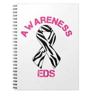 EDS Awareness Zebra Ribbon Notebook