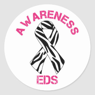 EDS Awareness Zebra Ribbon Sticker