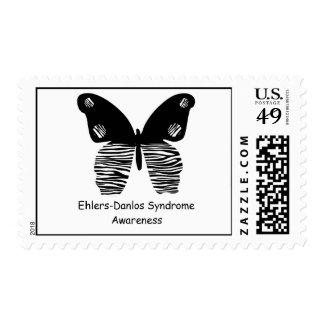 EDS Awareness Zebra Stripe Butterfly Postage Stamp