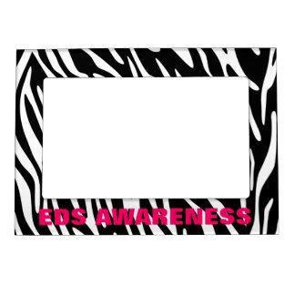 EDS Awareness Zebra Stripe Magnet Photo Frame