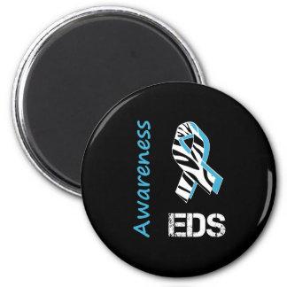 EDS Awareness Zebra Stripe Ribbon Magnet