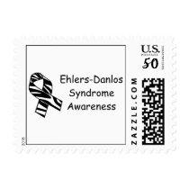EDS Awareness Zebra Stripe Ribbon Postage Stamp