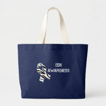 EDS Awareness Zebra Stripe Ribbon Tote Bag