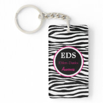 EDS Awareness Zebra Stripes Acrylic Keychain