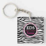 EDS Awareness Zebra Stripes Acrylic Keychain