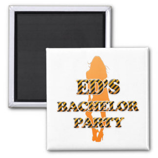 Ed's Bachelor Party 2 Inch Square Magnet