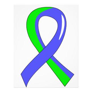 EDS Blue Lime Green Ribbon 3 Full Color Flyer