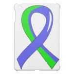 EDS Blue Lime Green Ribbon 3 iPad Mini Case