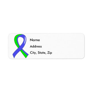 EDS Blue Lime Green Ribbon 3 Label