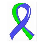 EDS Blue Lime Green Ribbon 3 Postcard