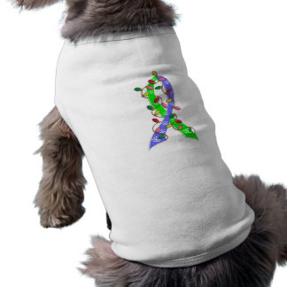 EDS Christmas Lights Ribbon Doggie T Shirt
