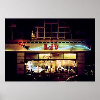 Ed's Diner in Soho London UK Print