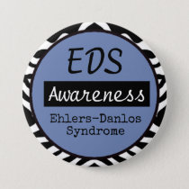 EDS Ehlers-Danlos Syndrome Awareness Zebra Button