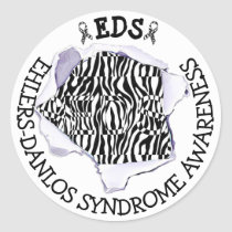 EDS Ehlers-Danlos Syndrome Awareness Zebra Sticker