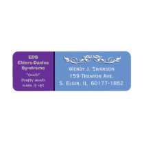 EDS Ehlers-Danlos Syndrome Mailing Address Label