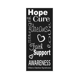 EDS Encouragement Words Wrapped Canvas Sign