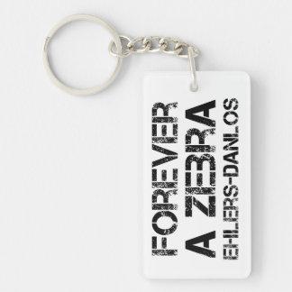EDS Forever A Zebra Awareness Keychains