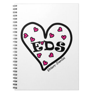 EDS Heart Spiral Notebook