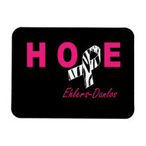 EDS Hope Awareness Zebra Ribbon Flexible Magnet