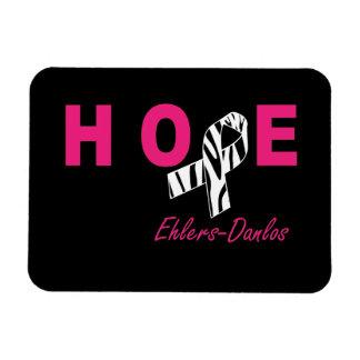 EDS Hope Awareness Zebra Ribbon Flexible Magnet