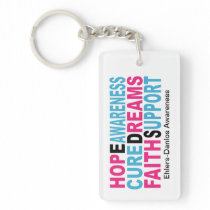 EDS Hope Cure Awareness Keychains