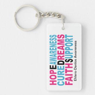 EDS Hope Cure Awareness Keychains