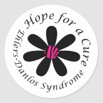 EDS Hope for a Cure Round Sticker