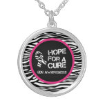 EDS Hope for a Cure Zebra Stripe Necklace