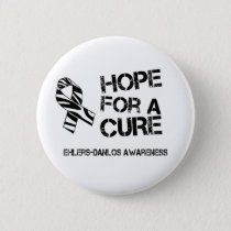 EDS Hope for a Cure Zebra Stripe Ribbon Button