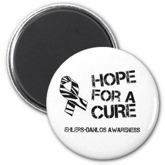 EDS Hope for a Cure Zebra Stripe Ribbon Magnet