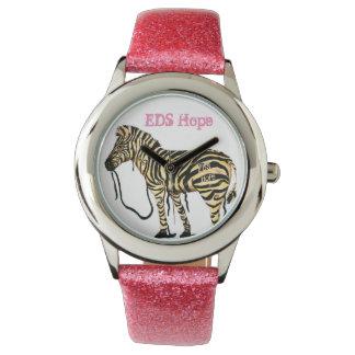 EDS Hope Pink Girls Zebra Watch